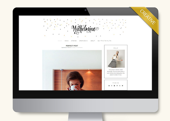 Wilhelmina Wordpress Theme Blog
