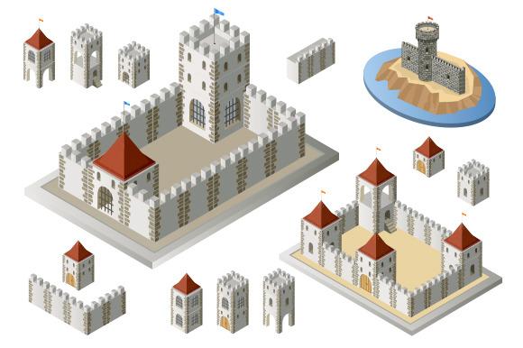 Fortress Set Illustrations