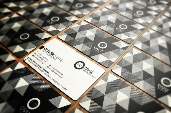 Abstract Black White Business Card
