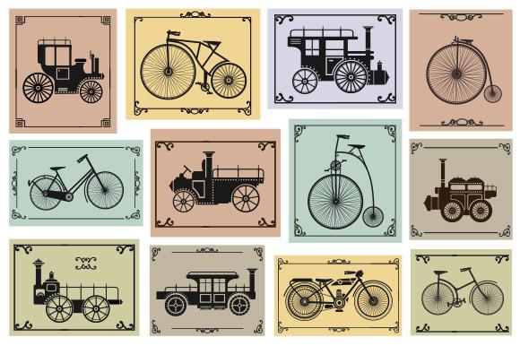 Old Bike And Car