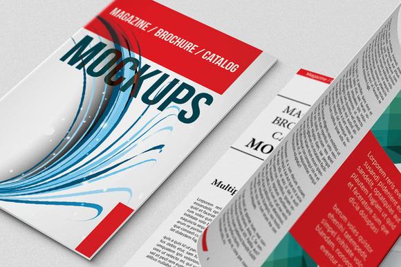 Magazine Catalogs Mockups