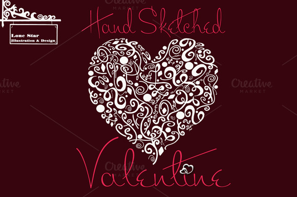 Hand Drawn Valentines Day Clipart
