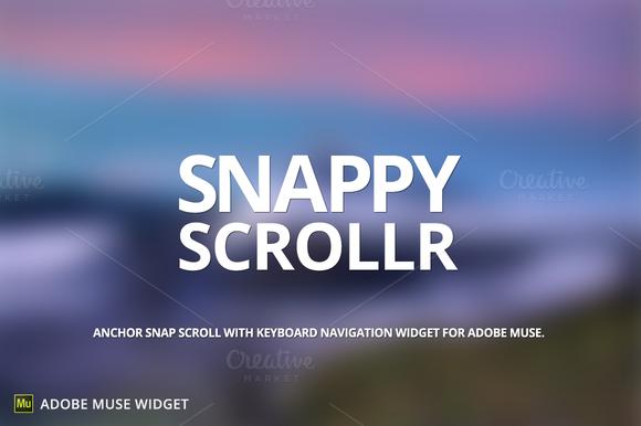Snappy Scrollr Adobe Muse Widget