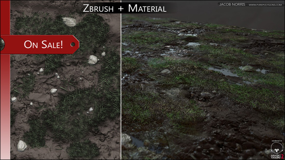 SALE Zbrush Textures Grass