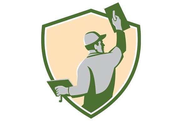 Plasterer Masonry Trowel Shield Retr