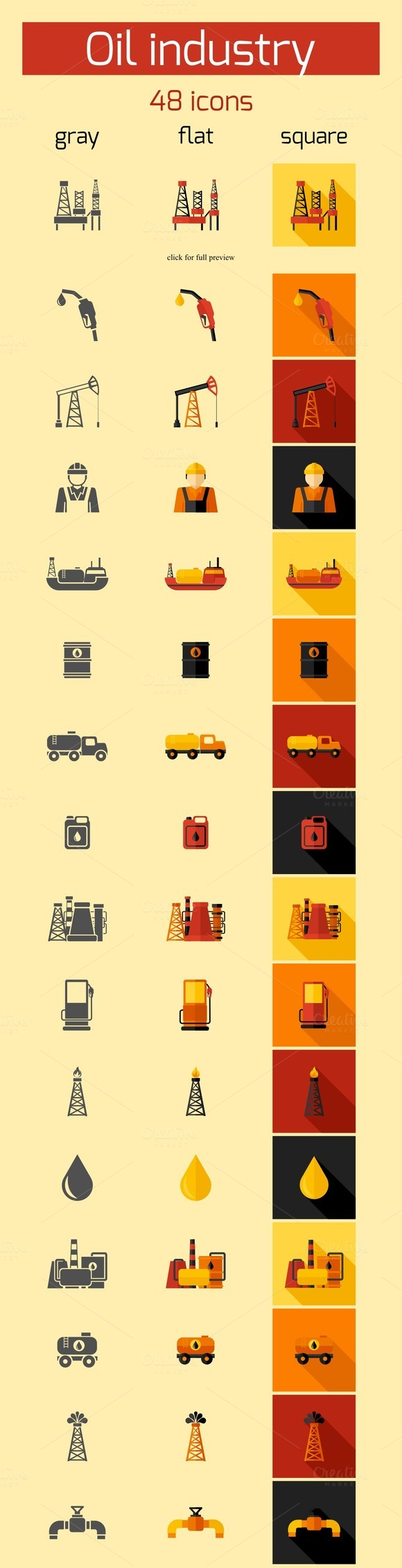 48 Oil Industry Vector Icons