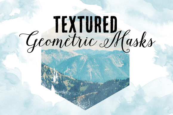 Textured Geometric Masks PNG