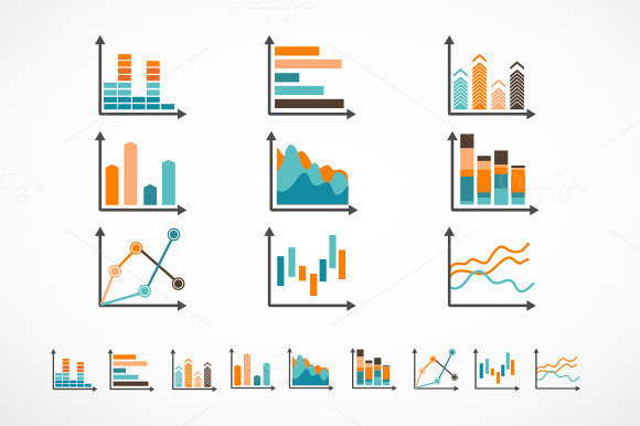 Infographic Set Elements Diagrams