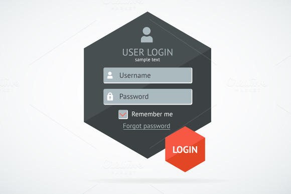 Vector Login Form Page