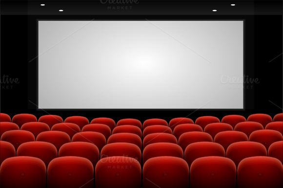 Vector Red Cinema Theatre Seats