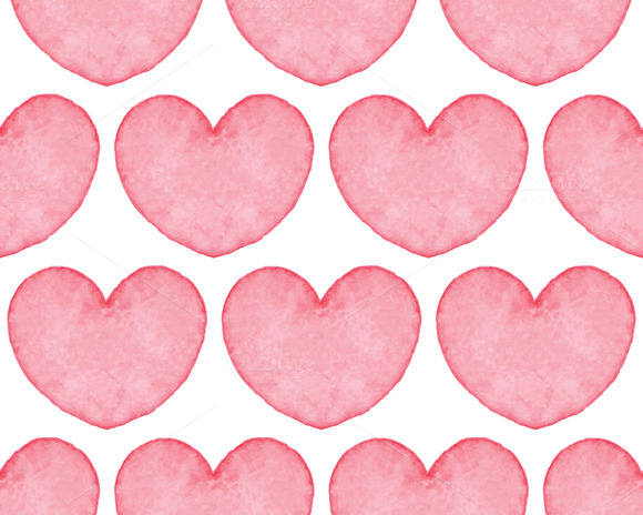 Seamless Watercolor Heart Texture