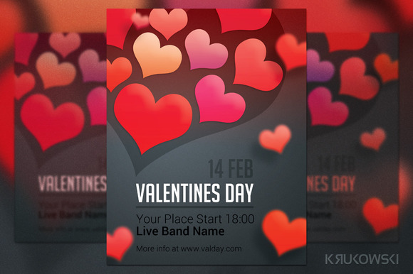 Simple Valentines Day Flyer