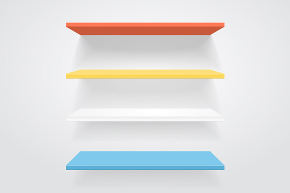 Color Shelves Vector