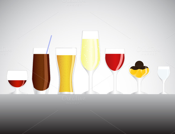 Drinks Vector Illustration