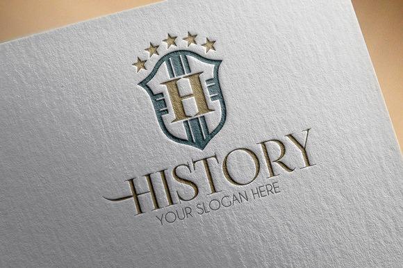 History H Letter Logo
