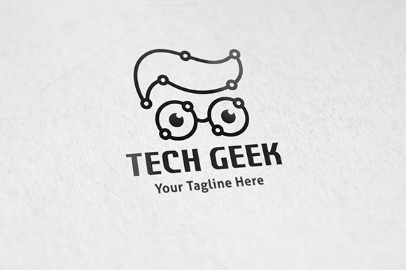 Tech Geek Logo Template