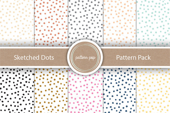 Sketched Dots Pattern Pack
