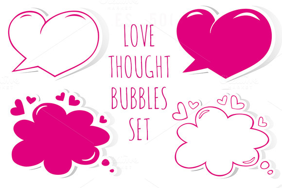 Romantic Speech Bubbles