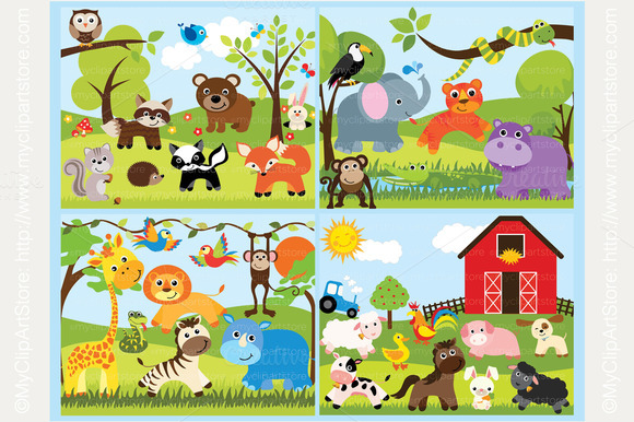 25% OFF Animals Clipart Bundle