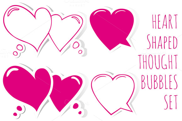 Heart Shaped Speech Bubbles
