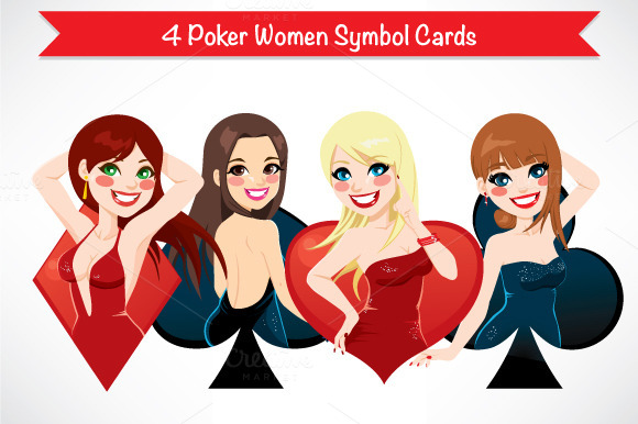 Poker Women Symbol Cards