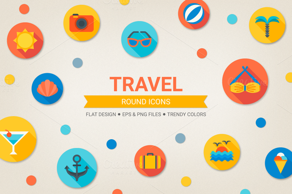Round Travel Icons
