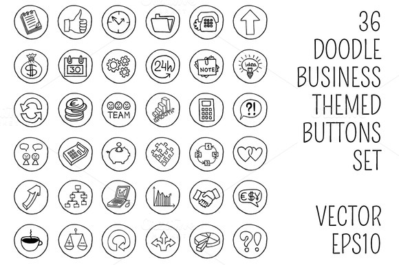 Doodle Business Buttons