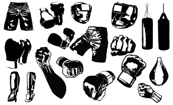 MMA Fight Gear Vector Pack