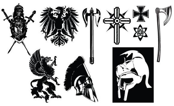 Medieval Crest Armor Vector Pack