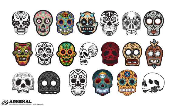 Candy Skulls Vector Pack