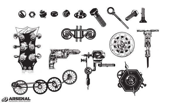 Nuts Bolts Hardware Vector Pack