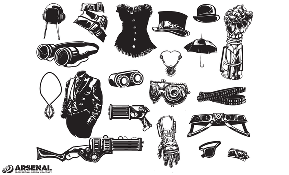 Steampunk Fashion Vector Pack
