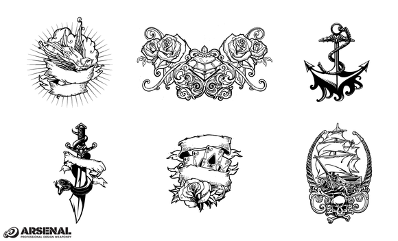 Tattoo Design Vector Pack