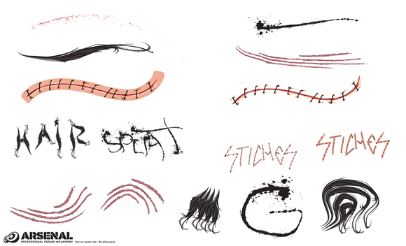 Horror Vector Brushes Pack