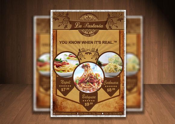 La Pastaria PSD Flyer