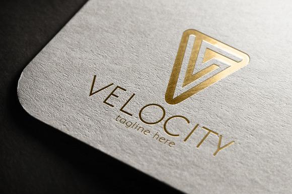 Velocity V Letter Logo