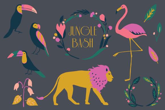 Jungle Bash Clip Art Set