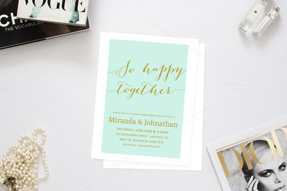 So Happy Together Anniversary Invite