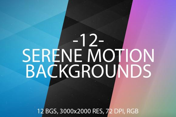 12 Serene Motion Backgrounds