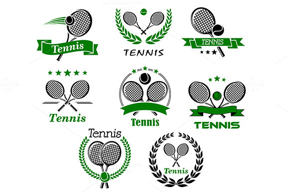Tennis Emblems Symbols And Icons