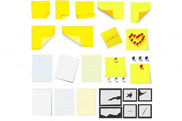 Office Sticky Notes And Turned Pape