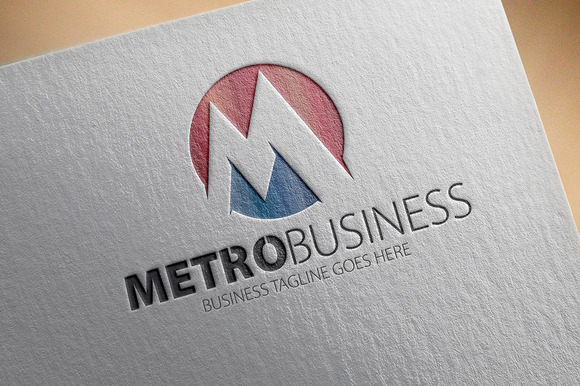 Metro Business M Letter Logo