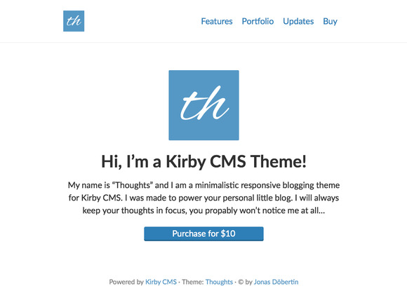 Thoughts Kirby CMS Theme