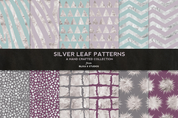 Silver Leaf Geometric Patterns No 2