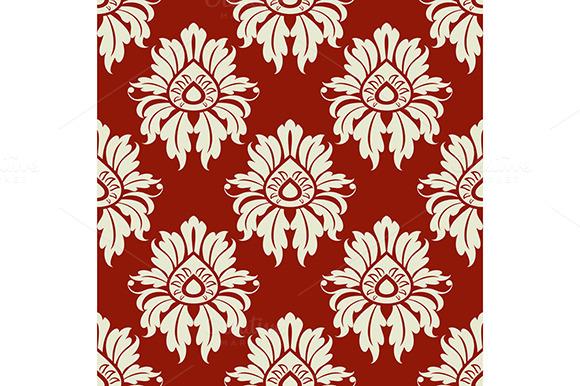 Beige Floral Seamless Pattern