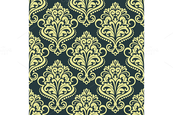 Floral Yellow Seamless Pattern