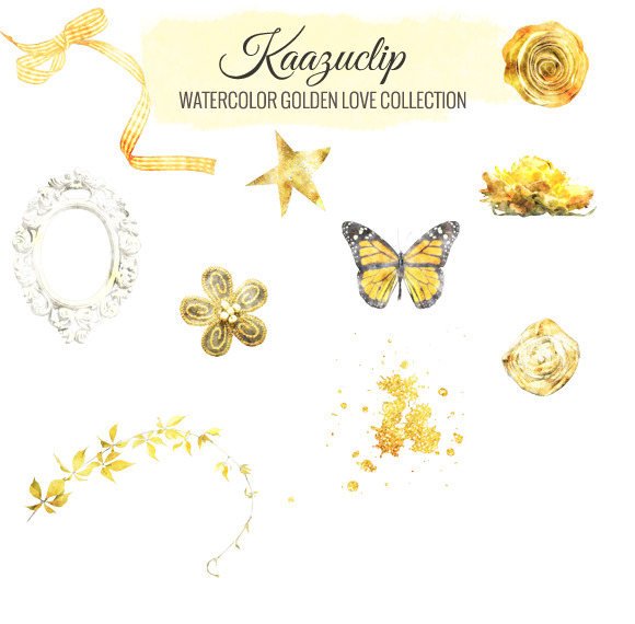Watercolor Golden Love Collection