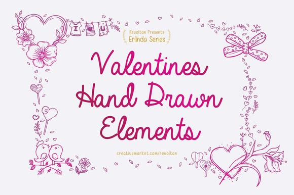 Valentine S Hand Drawn Elements