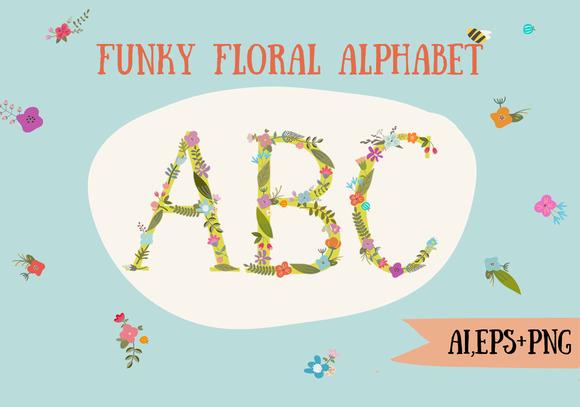 Funky Floral Alphabet