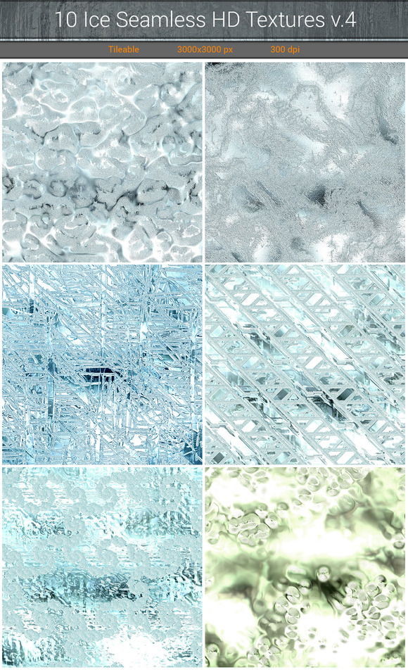 Ice Seamless HD Textures V.4